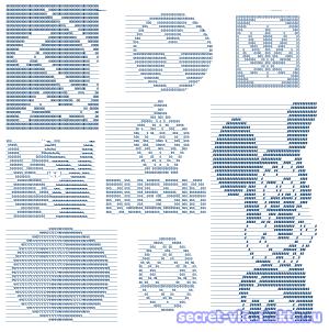 Рисунки символами Вконтакте - логотипы